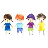 Ilustração das crianças Fotos de Stock Royalty Free