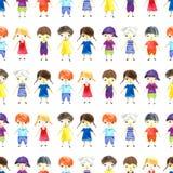 Ilustração das crianças da aquarela Imagens de Stock