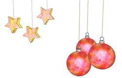 Ilustração das decorações de Cristhmas Fotografia de Stock Royalty Free