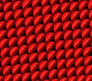 Ilustração das escalas de peixes Teste padrão vermelho das escalas da carpa Fundo animal abstrato Textura do Squama abstraia o fu imagens de stock royalty free