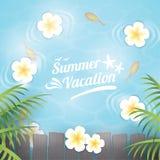 Ilustração das férias de verão Imagens de Stock