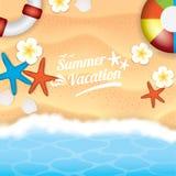 Ilustração das férias de verão Fotos de Stock