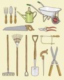 Ilustração das ferramentas de jardim Fotografia de Stock