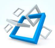 Ilustração das formas 3d Imagens de Stock