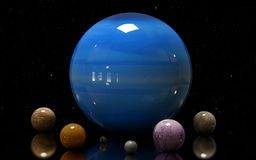 Ilustração das luas e da estrela do Urano Elementos deste ima Imagem de Stock