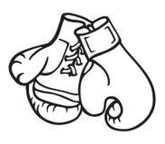 Ilustração das luvas de Boxng Foto de Stock