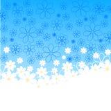 Ilustração das margaridas no fundo azul Fotos de Stock
