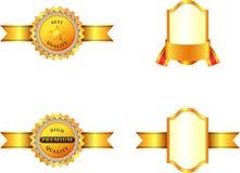 Ilustração das medalhas de ouro ilustração stock