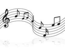 Ilustração das notas musicais Imagem de Stock Royalty Free