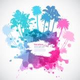 Ilustração das palmeiras do vetor Fotos de Stock Royalty Free