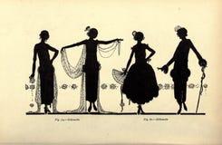 Ilustração das senhoras do vintage Fotos de Stock