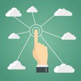 Ilustração das tecnologias da nuvem para o projeto de negócio ilustração stock