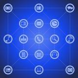 Ilustração de ícones diferentes da ferramenta para o telefone esperto Fotos de Stock Royalty Free