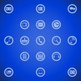 Ilustração de ícones diferentes da ferramenta para o telefone esperto Imagens de Stock