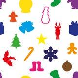 Ilustração de ícones do Natal Fotografia de Stock Royalty Free
