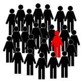A ilustração de ícones dos povos, pensa diferente, ilustração ilustração royalty free
