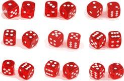 Ilustração de 9 jogos dos dados Fotos de Stock Royalty Free