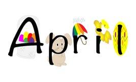 Ilustração de abril Imagens de Stock