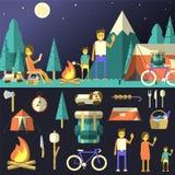 Ilustração de acampamento Imagens de Stock Royalty Free