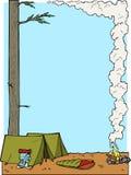 Ilustração de acampamento da beira fotografia de stock royalty free