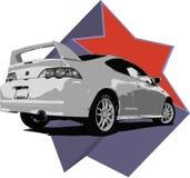 Ilustração de Acura RSX Imagens de Stock Royalty Free
