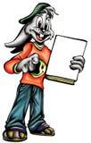Ilustração de alta qualidade da mascote urbana do coelho de coelho, tampa, fundo, papel de parede ilustração royalty free