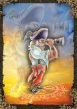 Ilustração de alta qualidade do pirata, tampa, fundo, papel de parede ilustração royalty free