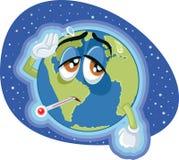 Ilustração de alta temperatura do conceito da terra do aquecimento global ilustração royalty free