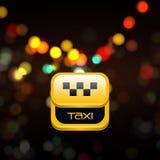 Ilustração de alumínio do quadro com sinal do táxi Fotos de Stock Royalty Free