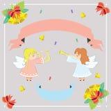 Ilustração de anjos pequenos imagens de stock