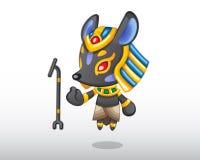 Ilustração de Anubis do vetor Fotos de Stock Royalty Free