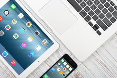Ilustração de Apple Inc dispositivos fotografia de stock