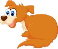 Ilustração de assento do cão dos desenhos animados Fotos de Stock Royalty Free