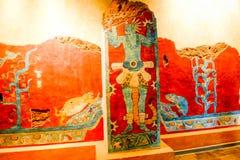 Ilustração de Azteca no museu da antropologia Imagens de Stock