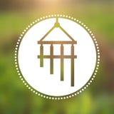 Ilustração de bambu do carrilhão de vento do vetor em um fundo natural Fotos de Stock