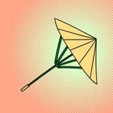 Ilustração de bambu do vetor do pop art do guarda-chuva ilustração royalty free