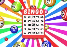 Cartão e bolas do Bingo Imagens de Stock Royalty Free
