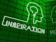 Ilustração de Brain Indicating Positive Motivate 3d da inspiração Ilustração Stock