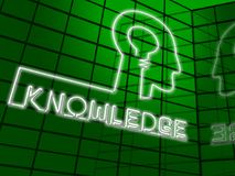 Ilustração de Brain Showing Know How 3d do conhecimento Ilustração do Vetor