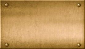 Ilustração de bronze da chapa de metal 3d ilustração royalty free