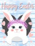 Ilustração de Bunny Vetora da Páscoa Easter feliz Fotos de Stock Royalty Free