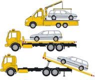 Ilustração de caminhões de reboque Foto de Stock