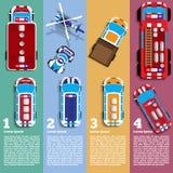 Ilustração de carros diferentes Fotos de Stock