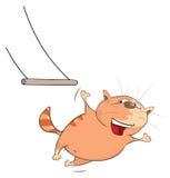Ilustração de Cat Acrobat bonito Personagem de banda desenhada ilustração stock