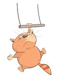 Ilustração de Cat Acrobat bonito Personagem de banda desenhada ilustração royalty free