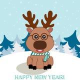 Ilustração de cervos engraçados Imagem de Stock Royalty Free