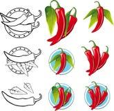 Ilustração de Chili Pepper - ilustração Fotos de Stock Royalty Free