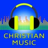 Ilustração de Christian Music Shows Religious Soundtracks 3d Fotografia de Stock Royalty Free