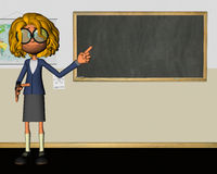 Ilustração de Classroom Chalkboard Education do professor Fotos de Stock Royalty Free