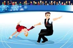 Ilustração de competência dos atletas da patinagem artística Fotos de Stock Royalty Free